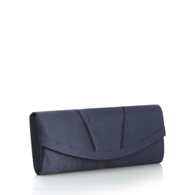 Debut Navy curved clutch bag
