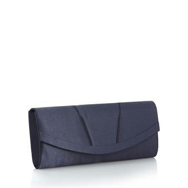 Home Women Navy curved clutch bag