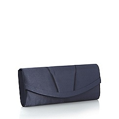 Debut - Navy curved clutch bag