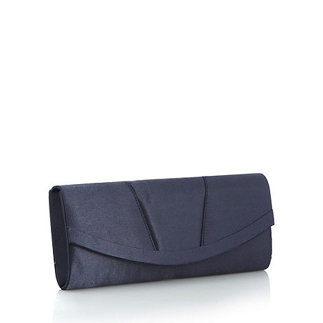 Debut - Navy curved clutch bag