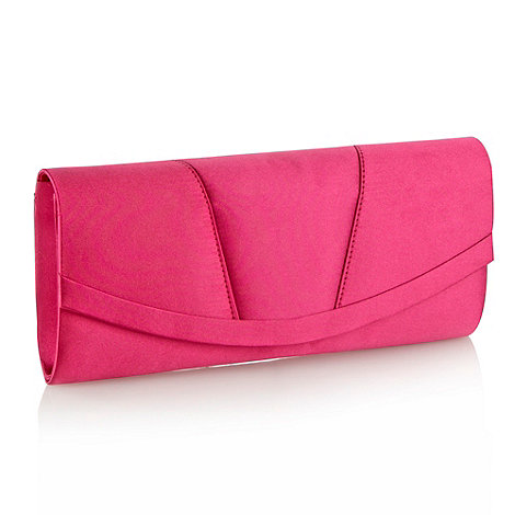 Debut - Bright pink curved panel clutch bag