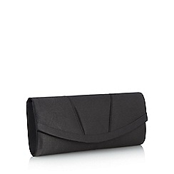 Debut - Black curved clutch bag