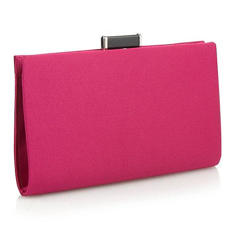 J by Jasper Conran - Designer pink enamel clasp clutch bag