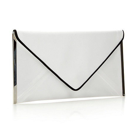 J by Jasper Conran - Designer ivory metal trim envelope clutch bag