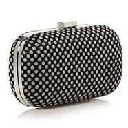 Designer Black Jacquard Dotted Clutch Bag