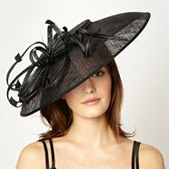 Designer Black Spotted Ribbon Fascinator