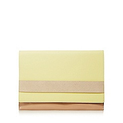 Principles by Ben de Lisi - Light pink band detail clutch bag