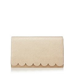 Principles by Ben de Lisi - Cream scalloped edge clutch bag