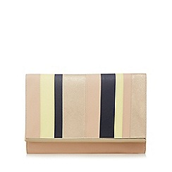 Principles by Ben de Lisi - Light pink colour block oversized clutch bag