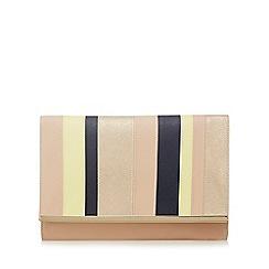 Principles by Ben de Lisi - Light pink colour block oversized clutch bag
