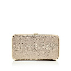 Principles by Ben de Lisi - Gold glitter clutch bag