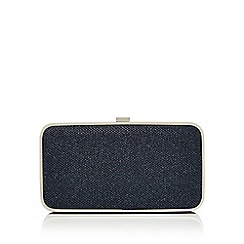 Principles by Ben de Lisi - Blue glitter clutch bag
