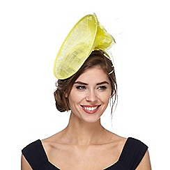 Principles by Ben de Lisi - Yellow feather fascinator