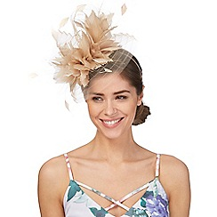 Principles by Ben de Lisi - Natural large feather fascinator