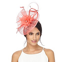 Principles by Ben de Lisi - Pink flower beaded embellished fascinator