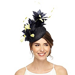 Principles by Ben de Lisi - Navy two tone feather fascinator
