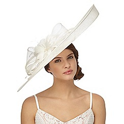 Principles by Ben de Lisi - Ivory feather floral saucer fascinator