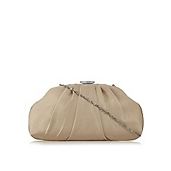 Principles by Ben de Lisi - Gold textured clutch bag
