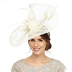 Principles by Ben de Lisi - White swirl feather headband fascinator