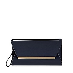 Principles by Ben de Lisi - Navy patent clutch bag