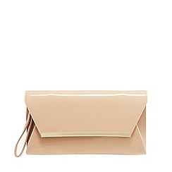 Principles by Ben de Lisi - Natural patent clutch bag