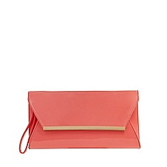 Principles by Ben de Lisi - Pink patent clutch bag