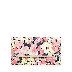 Principles by Ben de Lisi - Multi-coloured floral print clutch bag