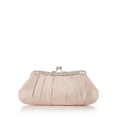 No. 1 Jenny Packham Light Pink Satin Diamante Clutch Bag | Debenhams