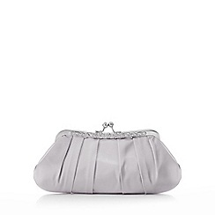 No. 1 Jenny Packham - Silver satin diamante clutch bag