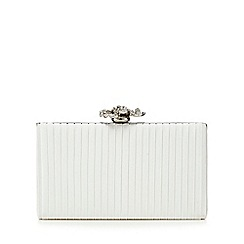 No. 1 Jenny Packham - Ivory pleated box clutch bag