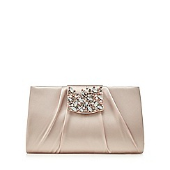 No. 1 Jenny Packham - Light pink satin embellished clutch bag