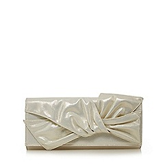 No. 1 Jenny Packham - Silver knotted clutch bag
