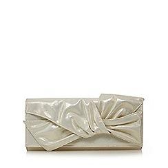 No. 1 Jenny Packham - Silver knotted clutch bag