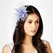Lilac Feather Flower Hair Clip