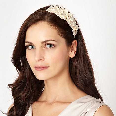 Debut - Cream floral lace hairband