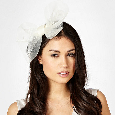 Debut - Cream meshed bow hair clip