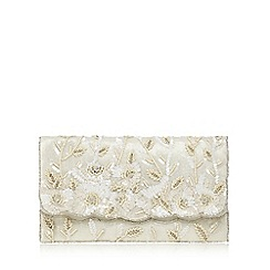 No. 1 Jenny Packham - Ivory sequin embellished clutch bag