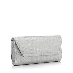 No. 1 Jenny Packham - Silver glitter clutch bag