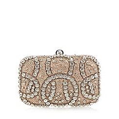No. 1 Jenny Packham - Gold 'Glitz' embellished clutch bag