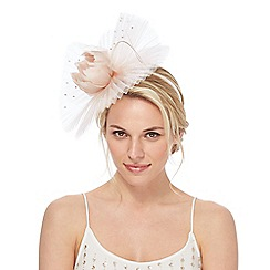 No. 1 Jenny Packham - Pink 'Lily' pleated fascinator