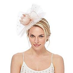 No. 1 Jenny Packham - Pink 'Lily' pleated fascinator