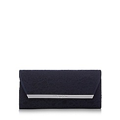 No. 1 Jenny Packham - Navy lace clutch bag