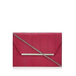 Star by Julien Macdonald - Bright pink animal pattern envelope clutch