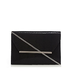 Star by Julien Macdonald - Black envelope clutch