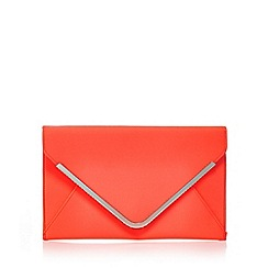 Star by Julien Macdonald - Orange satin envelope clutch bag
