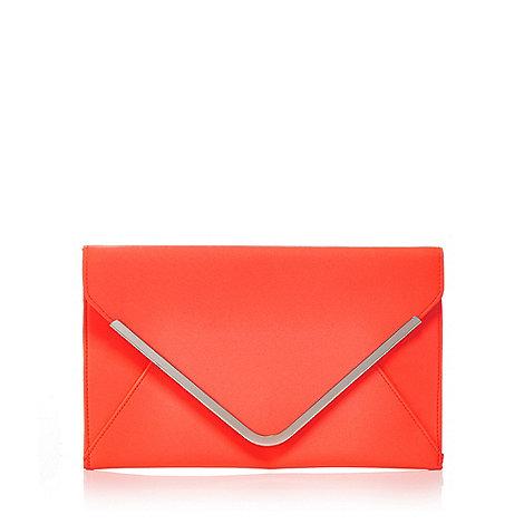 Star by Julien Macdonald - Orange satin envelope clutch bag