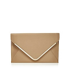 Star by Julien Macdonald - Gold satin envelope clutch bag