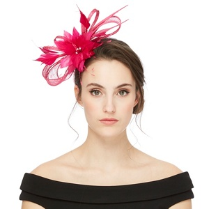 Star by Julien Macdonald Pink feather fascinator