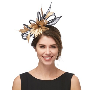 Star by Julien Macdonald Black feather fascinator