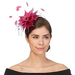 Star by Julien Macdonald - Bright pink feather fascinator